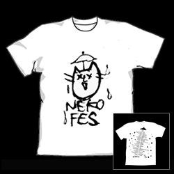 ネコフェスTシャツ コメちゃん~仲間運~