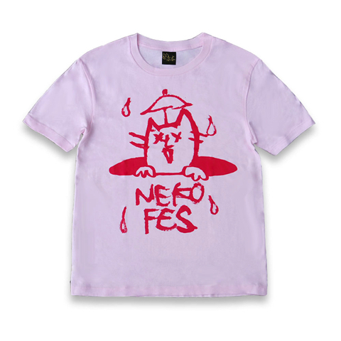 ねこふぇすTシャツ 2016 ピンク×レッド